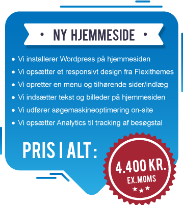 Billig WordPress hjemmeside